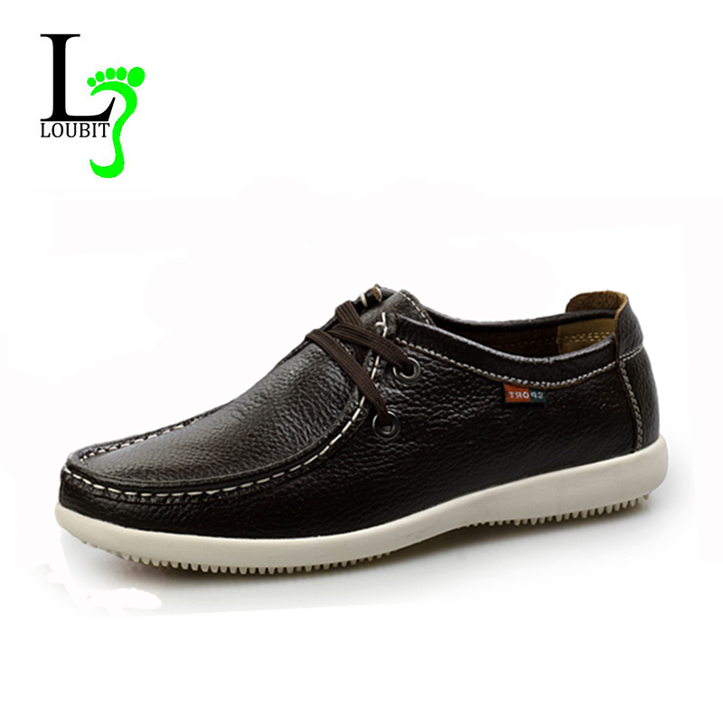 2015 Men Casual Shoes Flats Genuine Leather Casual Shoes Soft Men Loafers Fashion Comfortable Driving Shoes(China (Mainland))