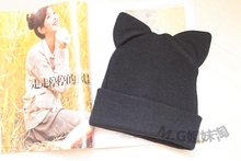 2014WINTER NEW STYLE WOMEN'S  KNIT HAT CAT EAR HAT   free shipping