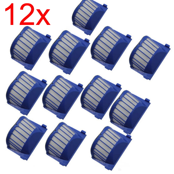 New Blue 12 PCS / Lot Aero Vac Filter for iRobot Roomba 500 600 Series 536 550 650 630 In on pack Free Shipping<br><br>Aliexpress