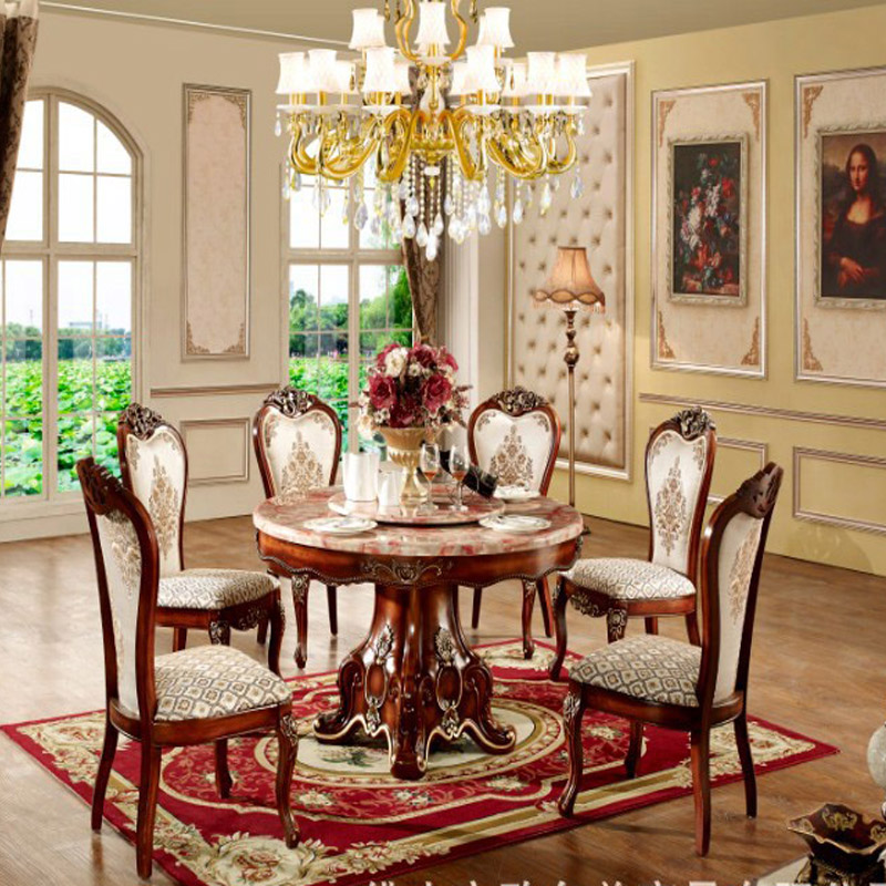 European round wood into solid wood furniture packages for Large round solid wood dining table