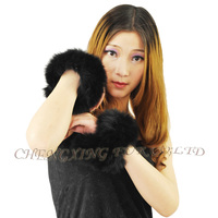 CX-A-11C Genuine Black Fox Slap on Cuffs / Bracelets BLACK WHITE DROP SHIPPING