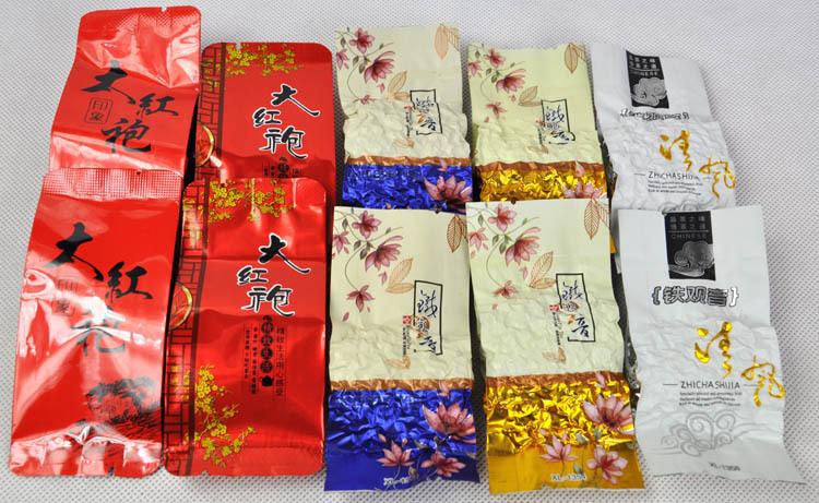 5 Kinds Flavours Oolong Tea Different Wulong including Dahongpao Tieguanyin Milk Tea Peach Oolong Tea Mo5