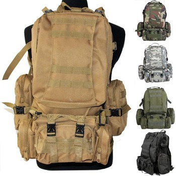 Outdoor Sports Molle mountaineering climbing backpack multifunctional tactical  backpacks travel camping Hiking bag