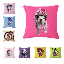 Dog Animals Print Cushion Pillow Throw Cushion