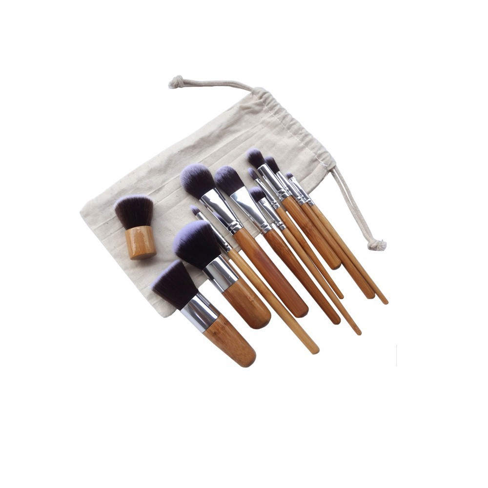 11pcs airbrush makeup brushes set feminine hygiene product kit of the cosmetic brushes for makeup kit hand to make up hot sale(China (Mainland))