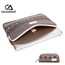 Top Quality Canvas Briefcase Laptop Sleeve Bag 13 14 15 for Apple Pro 15 15.6 Laptop Bags with Freebie Mouse Bag