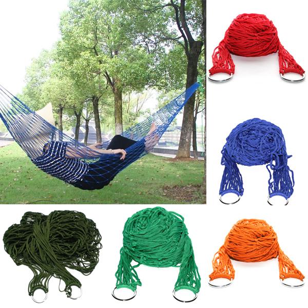 Гаджет  New Portable Nylon Hang Mesh Net Hammock Sleeping Bed Garden Yard Outdoor Garden Camping Travel Casual Swing Free Shipping None Мебель