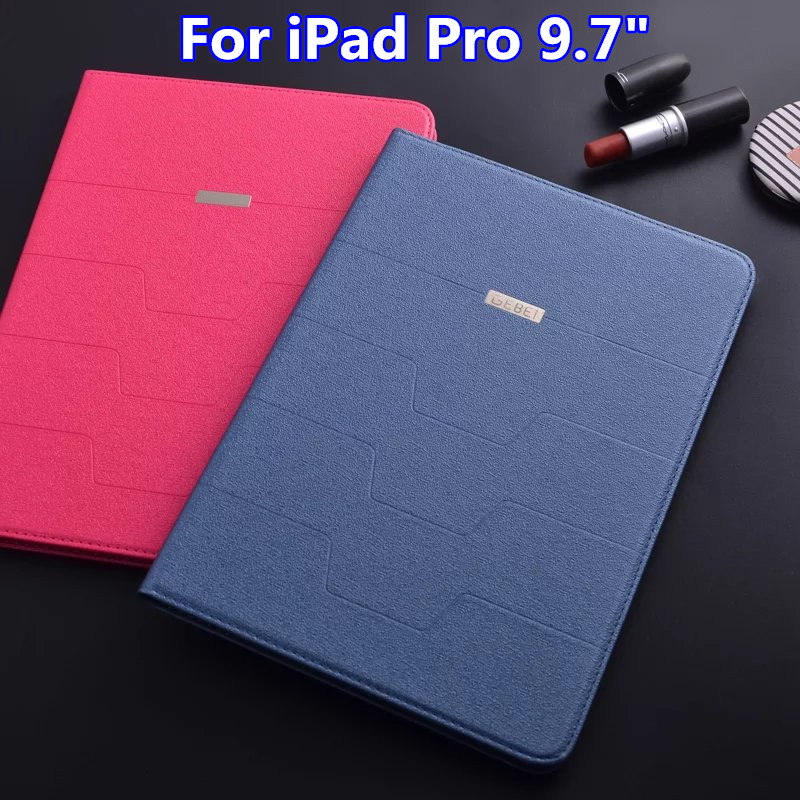 """High Quality Luxury Business Flip PU Leather Case for iPad Pro 9.7"""" Ultra Slim Stand Cover Smart Case for iPad Pro 9.7 Inch(China (Mainland))"""