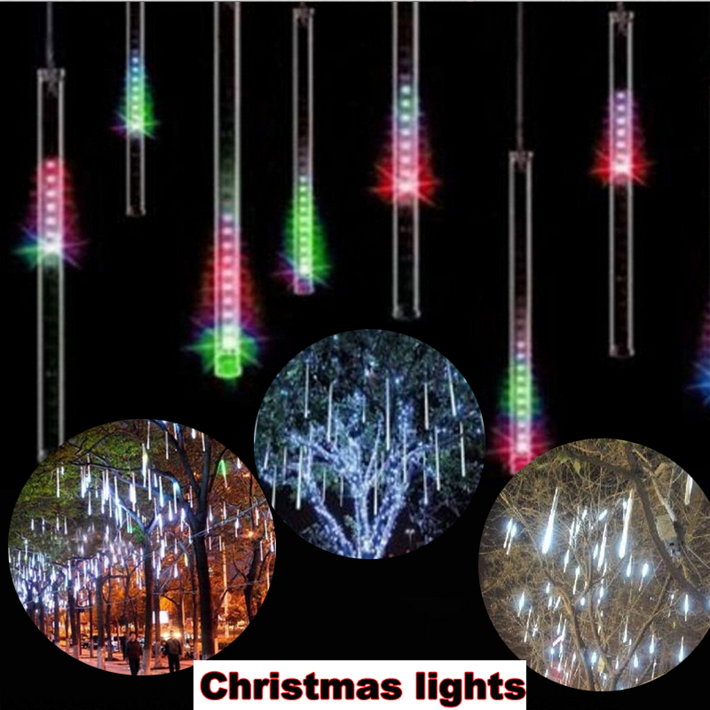 50cm 8 Tube 240 LEDs RGB Multi-color Meteor Shower Rain Lights Waterproof string lights for Wedding Christmas garden decoration(China (Mainland))