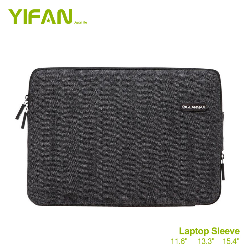 13.3 inch Woolen Shockproof Laptop Sleeve Case Bag Cover For Macbook and Ultrabook - Black(China (Mainland))