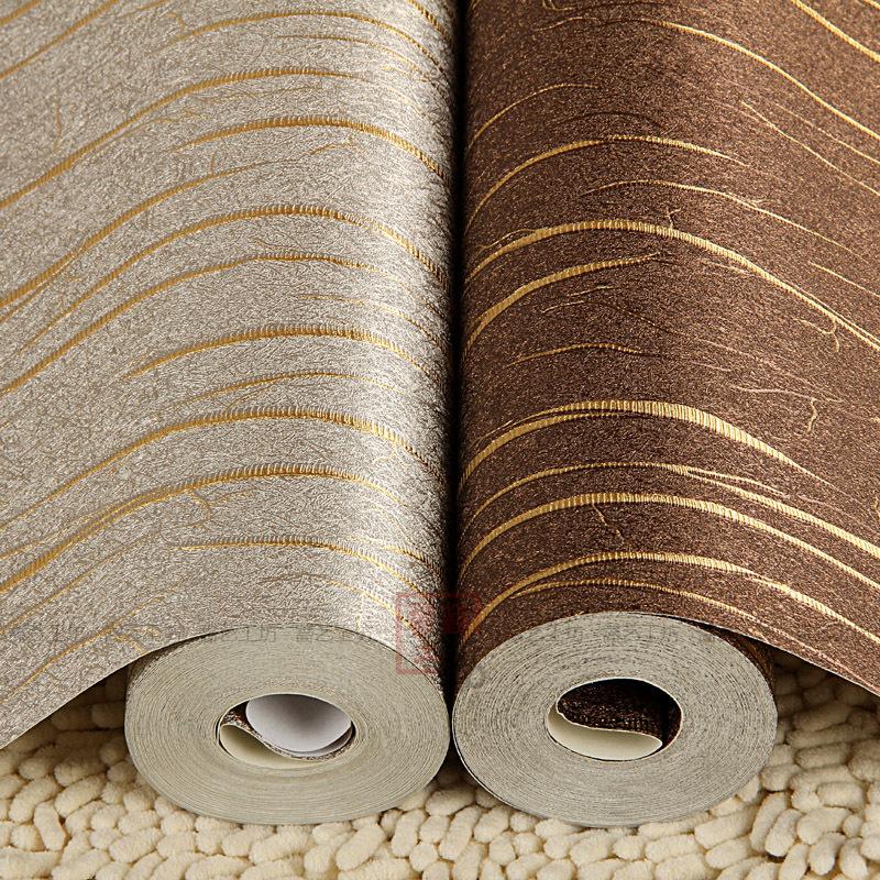 Buy gold stripe silver foil pvc wall - Papel decorativo para pared ...