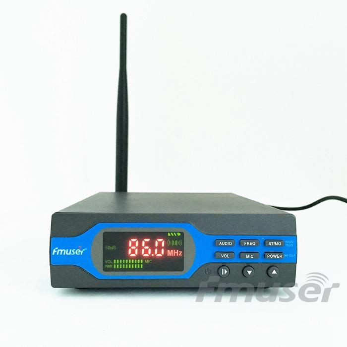 FMUSER FU-X01CK NEW 1W FM broadcast Transmitter Complete Antenna Set (8G TF Card+Battery+Bluetooth)(China (Mainland))