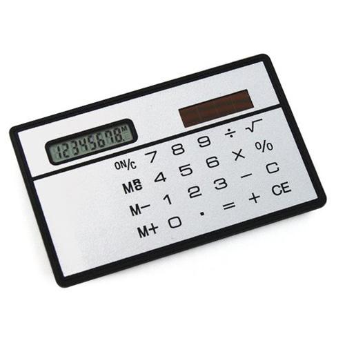 CAA Hot New White Solar Powered Calculator credit card sized Slimline travel Outdoor(China (Mainland))