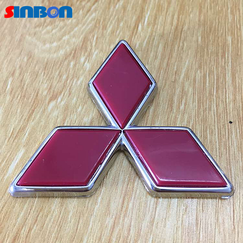 Logo mitsubishi Car styling New 3D Emblem ABS car Badge front rear trunk decal Pajero Lancer Montero Weatherproof sticker for(China (Mainland))