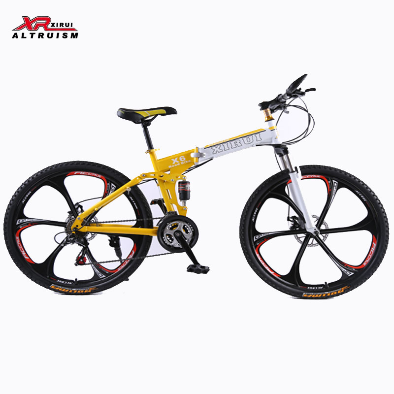 Mountain bike 24 speed folding bicycles XIRUI bike 26inch Magnesium alloy wheels bikes frame red X6 kids Road bicycle(China (Mainland))