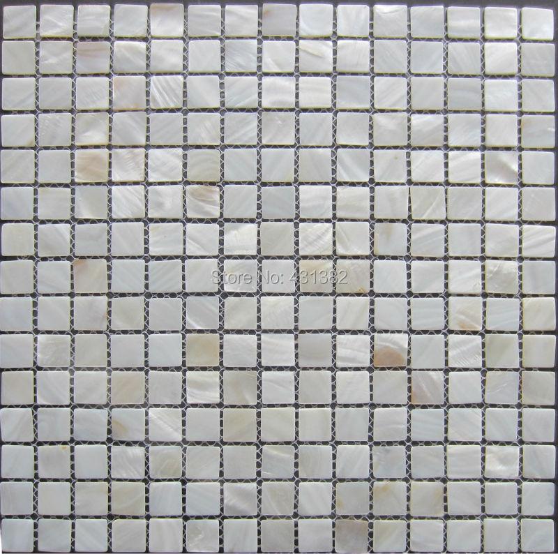 witte mozaïek douche tegel parelmoer tegels; witte keuken tegels ...