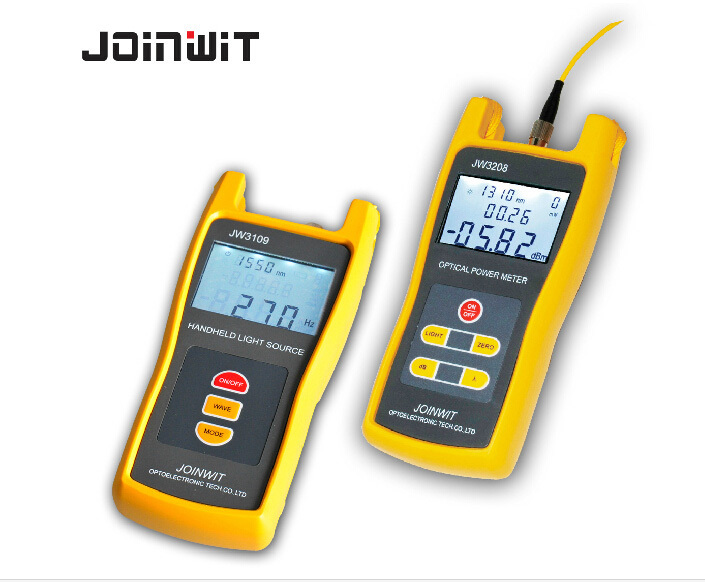 Handheld High precision Optical Power Meter JW3208C + Light Laser Source JW3109 Combination Tool Tester Kit(China (Mainland))