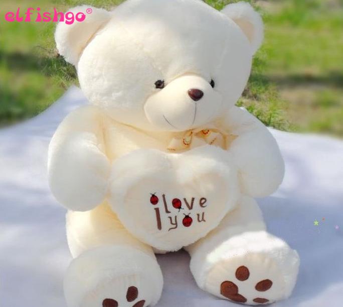 2015 New Big Plush Toys-70cm Giant Teddy Bear Large Soft Toy Stuffed Bear White Bear I Love You Valentine Day Birthday Gift(China (Mainland))