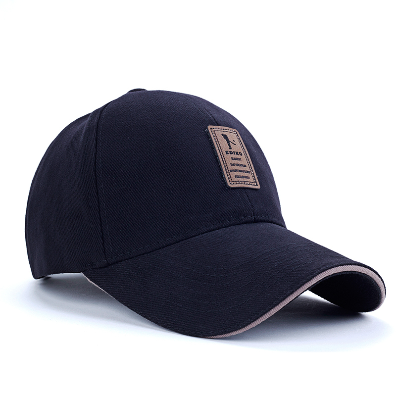 2015 EDIKO Brand 8 Color Cotton Baseball Cap Sports Golf Snapback Outdoor Simple Solid Hats For