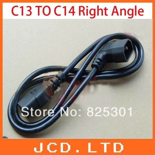 10pcs 110cm AC Power Cord, C13 to C14, C14 TO C13 right angle Black   / PDU C14 to C13 adapter/ Power Extension Cord
