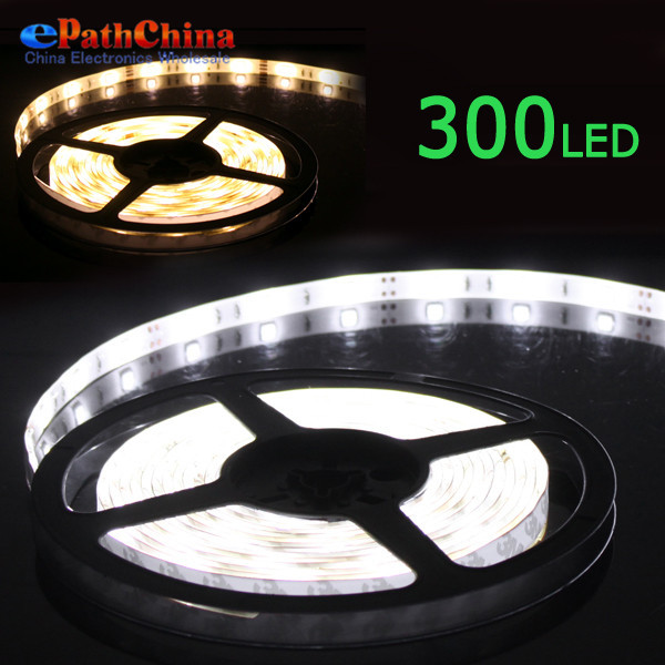 5m Warm Cool white 5050 SMD 300 LEDs 55W Flexible Rgb Led Strip 5050 Led Strip Light Lamp For Living Room Lighting Decoration(China (Mainland))