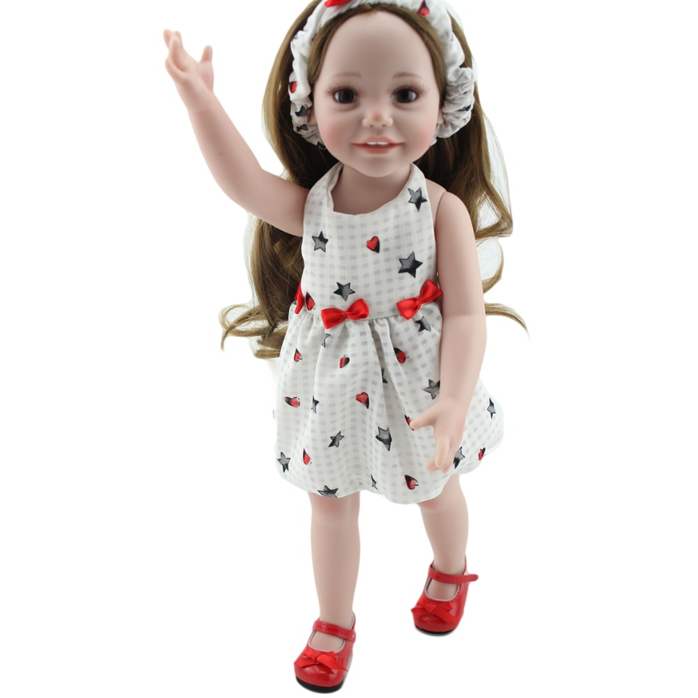 2016 New Design Children Educational Toys 2 - 8 Age+ Best Gift Full Vinyl Fashion Princess Girl Super Realistic Reborn Baby Doll(China (Mainland))