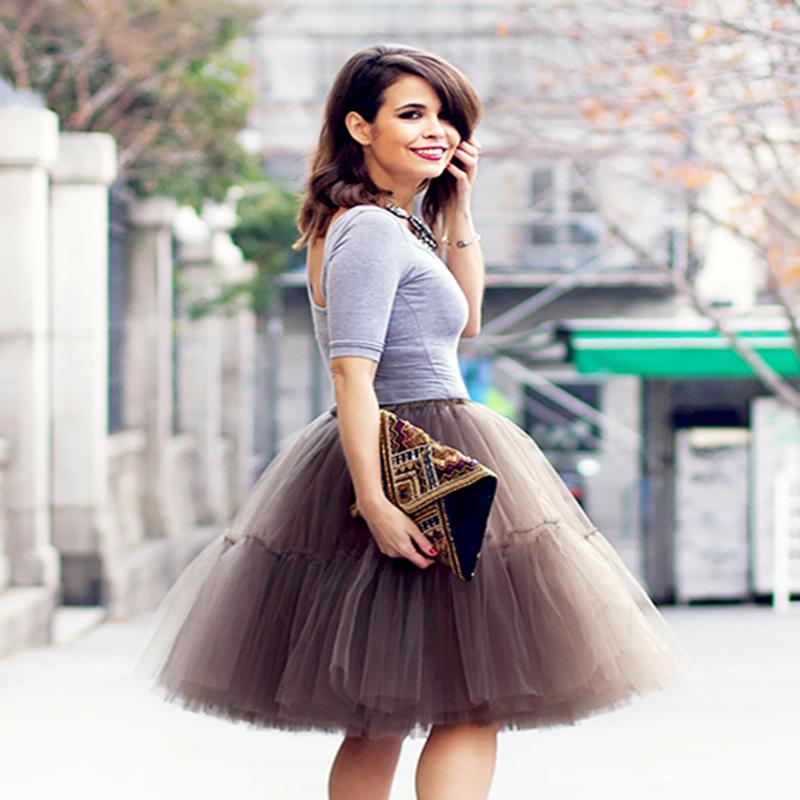 Free Shipping New 2016 Tutu Tulle Skirts Midi skirt Women Fashion Party Design saias femininas formal faldas cortas(China (Mainland))