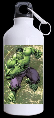 Super hero Hulk water Cup Adults sports water Bottle Green background printed fresh Cup Aluminum manufacture grade Bottle(China (Mainland))