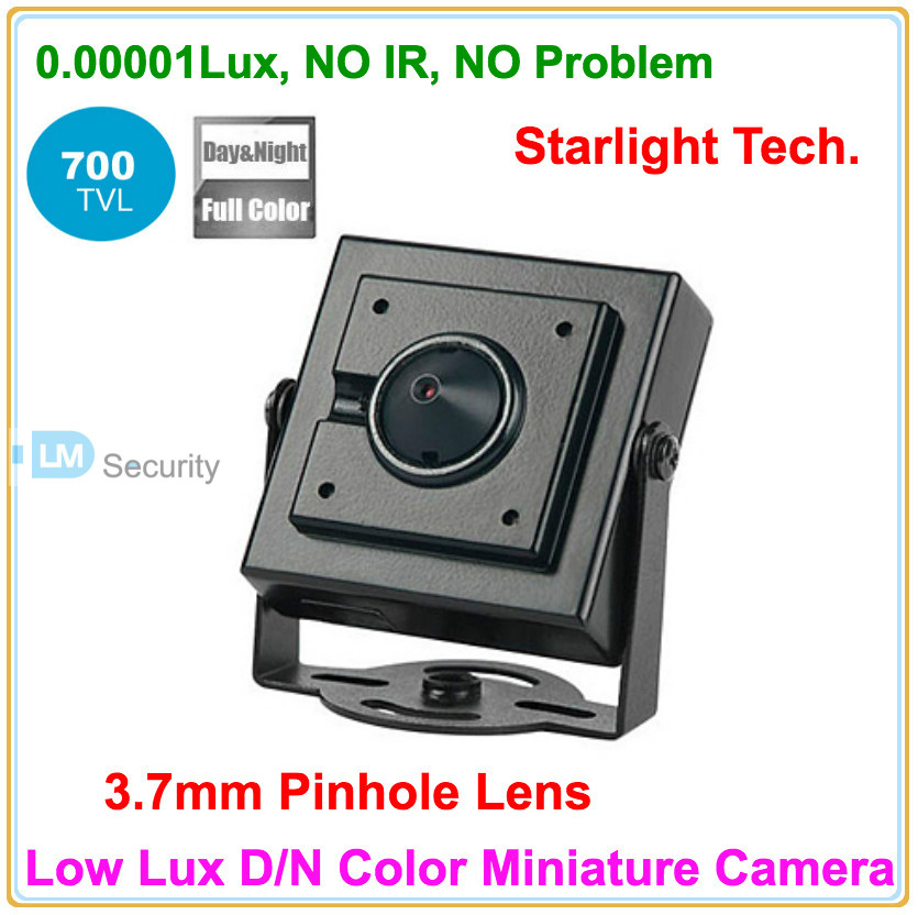Cheapest! Free Shipping Super Mini Starlight Camera 0.00001lux Low Lux D/N Color image Miniature Camera 700tvl security product(China (Mainland))
