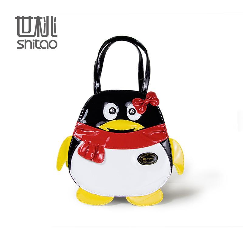 On behalf of a high-end hand QQ bag type bag fashion Penguin animal Handbag Shoulder Satchel(China (Mainland))