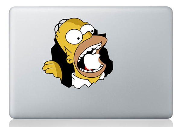 laptop sticker 13 inch Simpson for Macbook Decals Macbook Stickers Mac Vinyl Decal for Apple Laptop Macbook Pro(China (Mainland))