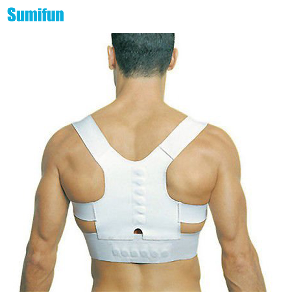 1 Pcs Unisex Adjustable Back Posture Corrector Brace Back Shoulder Support Belt Posture Correction Belt for Men Women C618(China (Mainland))