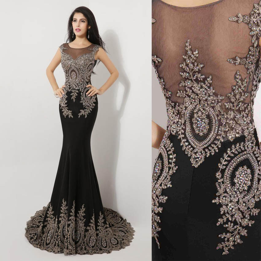 Long Sleeve Black Lace Mermaid Prom Dress | Fashion Tips