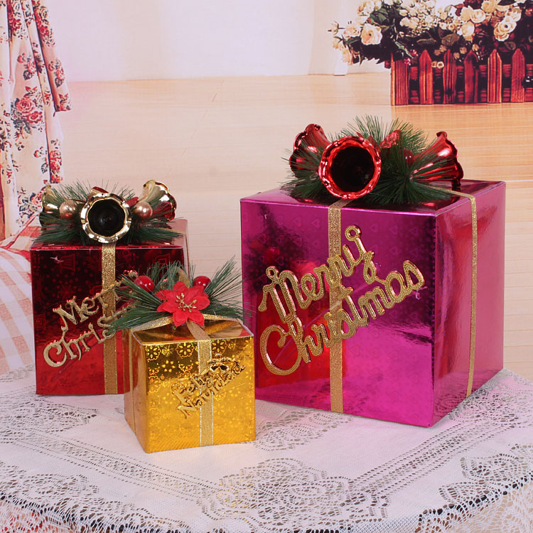 Christmas gift box christmas decorations for home new year for Application box decoration