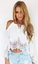 Summer Style Sexy 2016 Women Crop Tops Lace Solid Fashion Hollow Out Ladies Strapless Tank Tops Woman's Short Tops Free Shipping