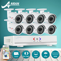 ANRAN 8CH CCTV System 720P HDMI AHD DVR 8PCS 1800TVL HD Outdoor Security Camera System 8