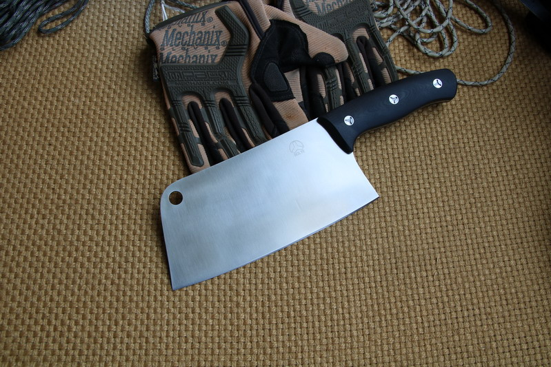 Buy Bolte chef cleaver paring knife 100% real D2 blade G10 handle tool knives cheap