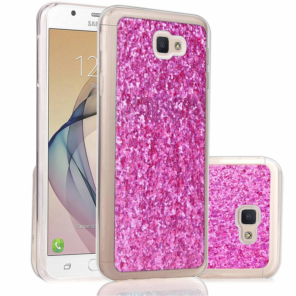 Tikono Soft Phone Case For Samsung Galaxy J7 Prime Case Shimmering Powder Inner Glitter TPU Soft Case Skin Covers(China (Mainland))