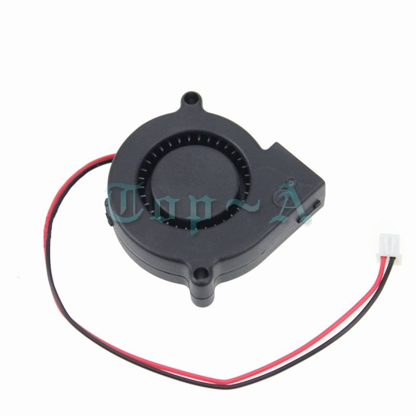 100 pcs/lot DC 12V 2 PIN 5cm 50mm x 15mm 5015 Small Centrifugal Blower Fan Computer Cooling Cooler(China (Mainland))