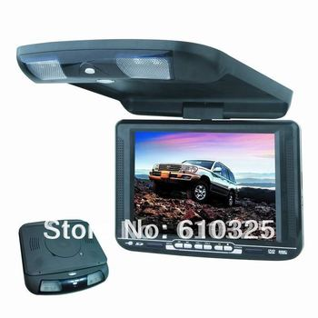 10.4 Inch Flip Down Car DVD Player Roof Mount DVD Player Flip Down Monitor Game IR USB SD FM Free Shipping For Retail/Pcs