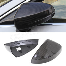 For Audi A3 2014 2015 Replacement carbon fiber rear view side mirror caps