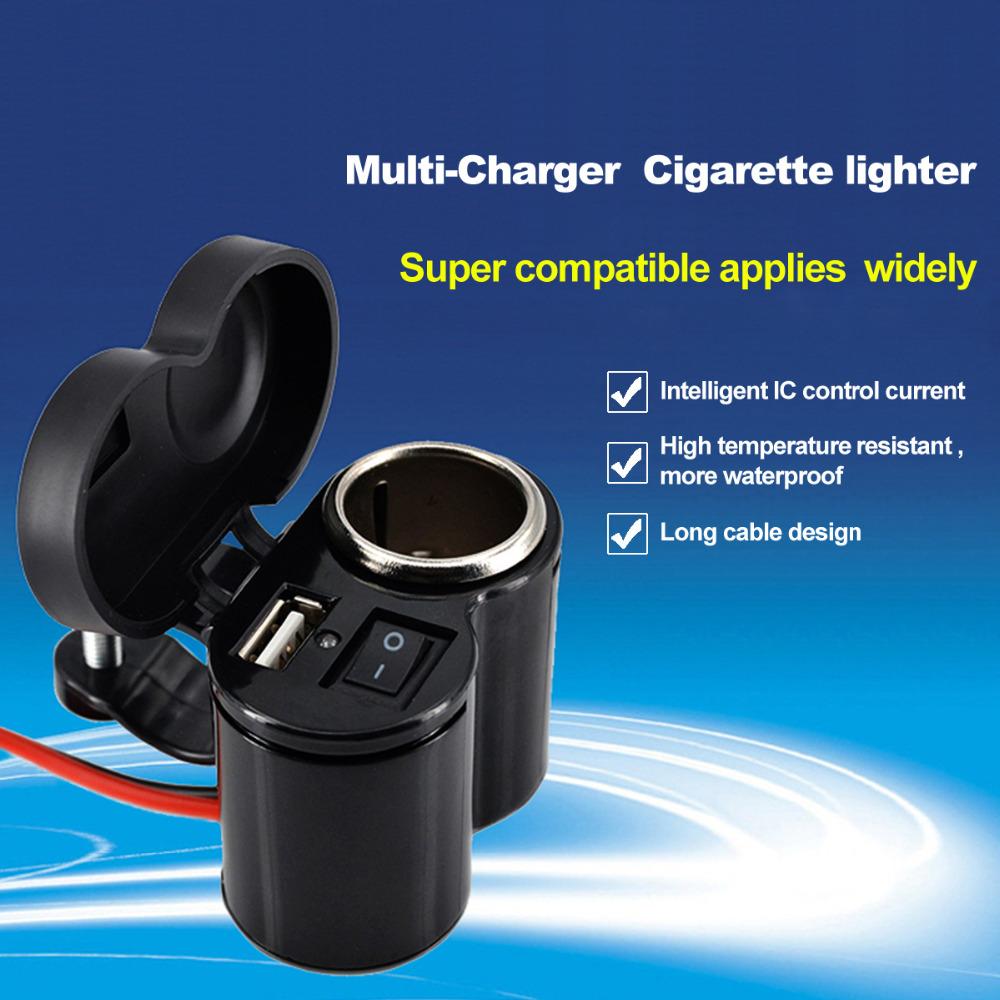 2016 H0T Motorcycle USB Charger Cigarette Lighter Waterproof 12V 5V Socket Motocicleta Lights For suzuki Allume moto garnish(China (Mainland))