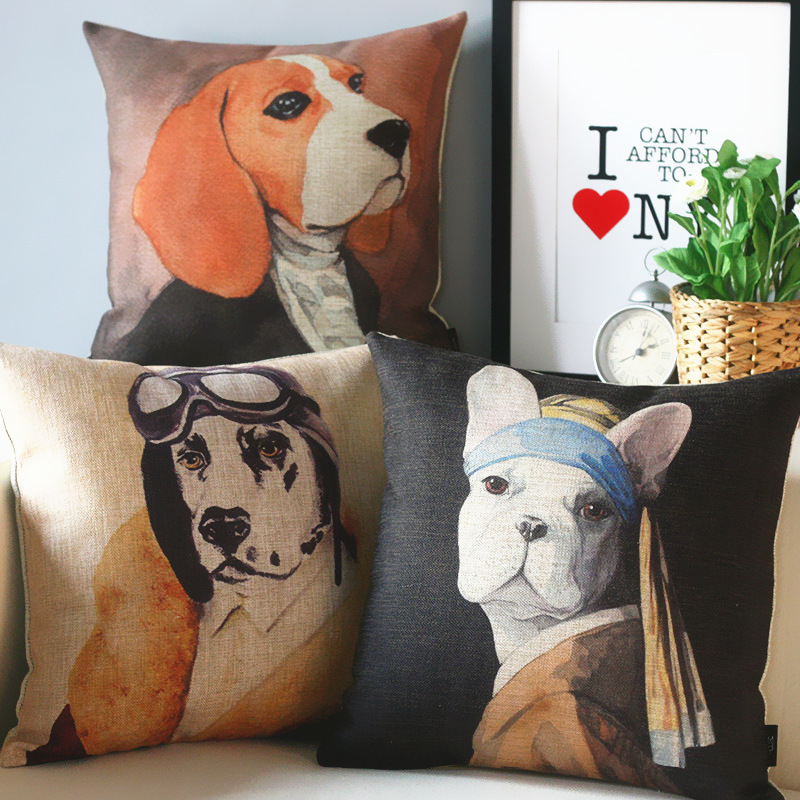 Animal Portraits Dog Pillow s,Simple Lovely DOG Pillow Cushion , Pillow home decoration sofa cushions(China (Mainland))