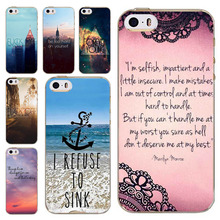 For Iphone 5C Phone Cover 2016 New Fashion Soft TPU Silicon Ultra Slim Case Popular Clear Words Printed Mobile Phone Cases
