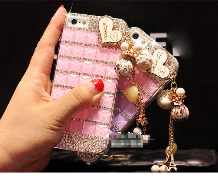 Free Shipping!Hipsters MobilePhone PC Case/Cover for iphone 4s 5s 5c Luxury Design Shiny Rhinestone Shell/skins for iphone4/5G(China (Mainland))