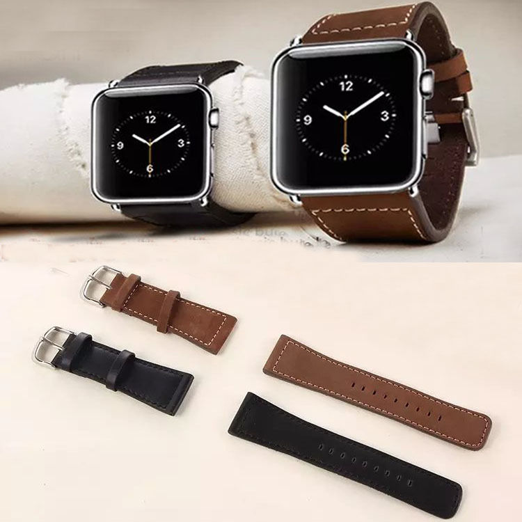 2015 New Classic Buckle Cowhide Genuine Leather Watch Band Strap for Apple Watch 38mm / 42mm With Screwdriver Without Adapter(China (Mainland))