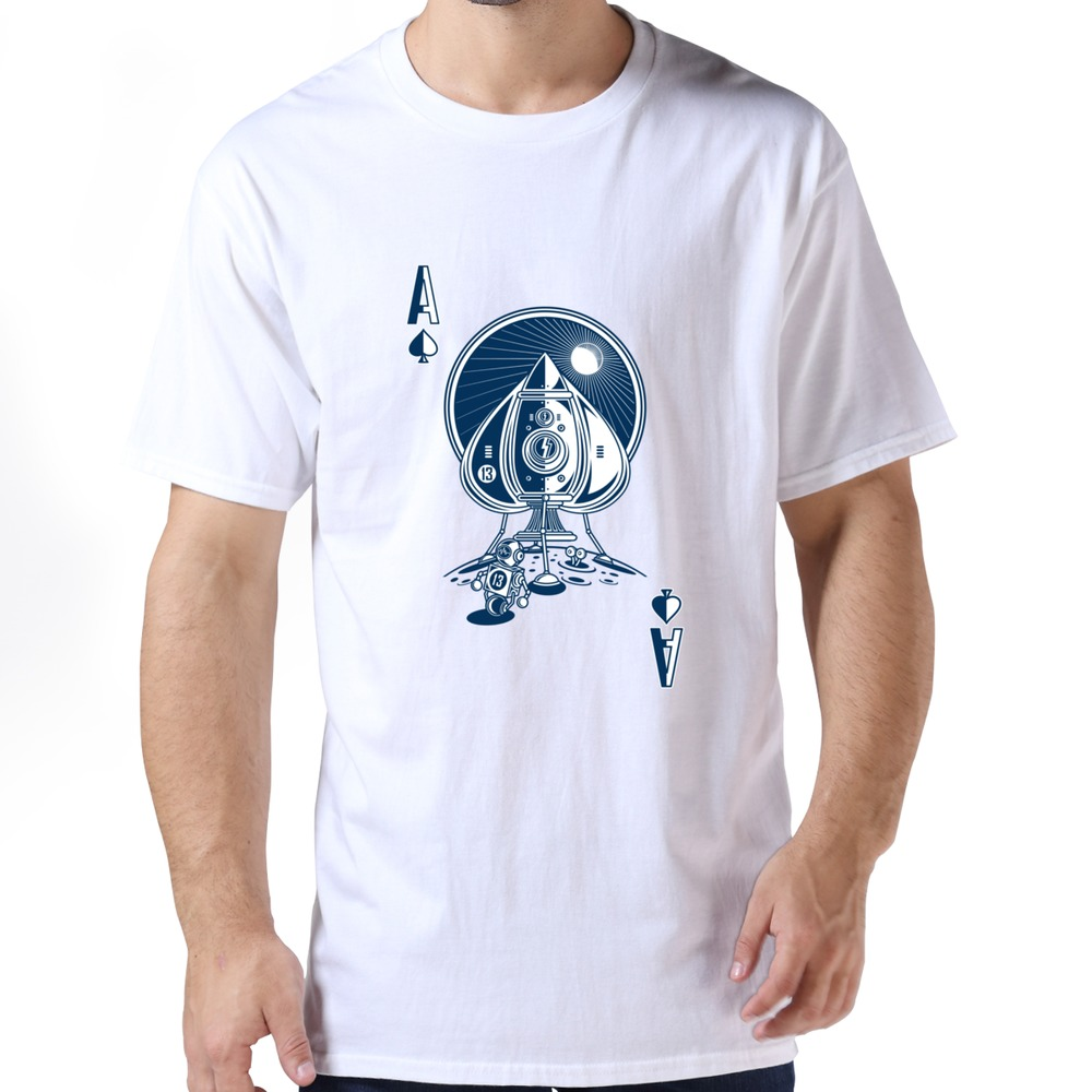 Free Shipping Funny O-neck clothing Ace Of Spaces high tech t shirt for mens(China (Mainland))