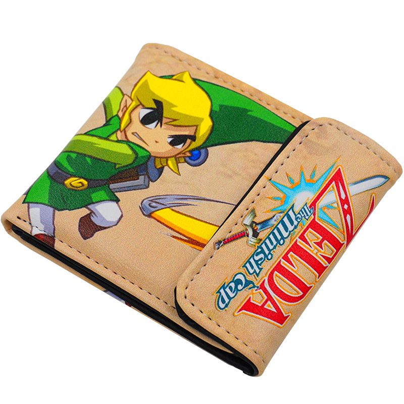 Japanese Anime The Legend of Zelda: The Minish Cap Link PU Short Purse Wallet Colorful Printing Type A<br><br>Aliexpress