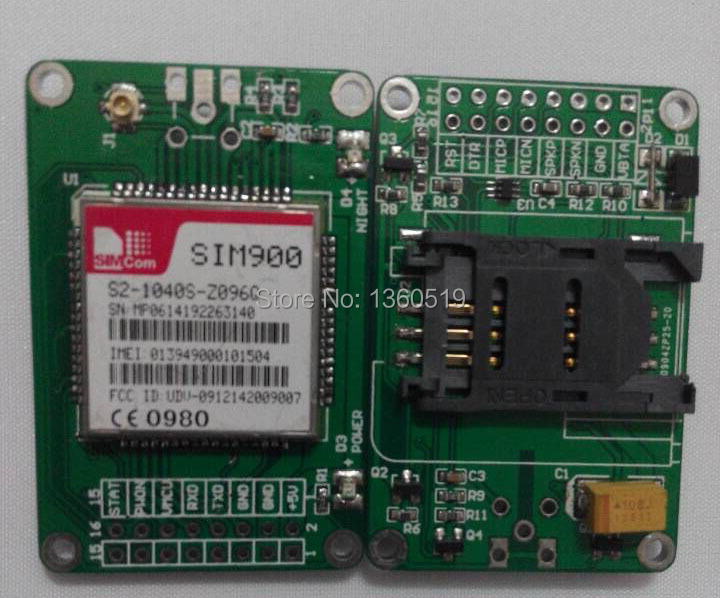 2015 latest SIM900 module expansion board GSM/GPRS shield for Arduino - IComSat v1.1 GSM SMS module ICOMSAT transmission antenna(China (Mainland))