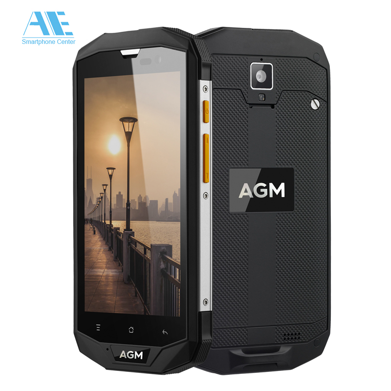 IP68 Water Proof Dust Proof Smartphone AGM A8 Cellphone Android 7.0 5.0 inch QuadCore 4G RAM 64G ROM 4G LTE 4050mAh Mobile Phone(China (Mainland))